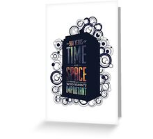 Doctor Who - Space and Time Greeting Card