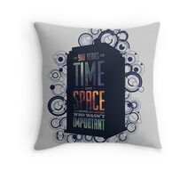 Doctor Who - Space and Time Throw Pillow