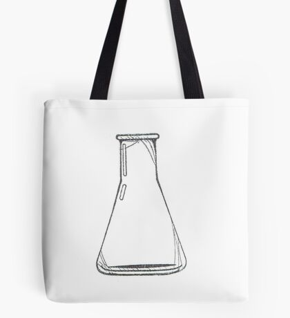 Black And White Chemistry Beaker Tote Bag