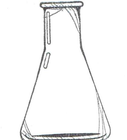 Black And White Chemistry Beaker Sticker