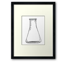 Black And White Chemistry Beaker Framed Print