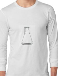 Black And White Chemistry Beaker Long Sleeve T-Shirt