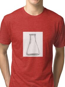 Black And White Chemistry Beaker Tri-blend T-Shirt