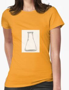 Black And White Chemistry Beaker Womens Fitted T-Shirt