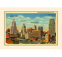 Vintage Business Section Kansas City MO Photographic Print