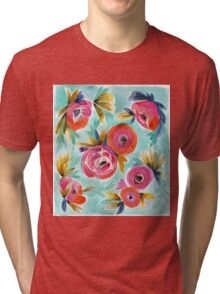 Celestial Rain Flower Tri-blend T-Shirt