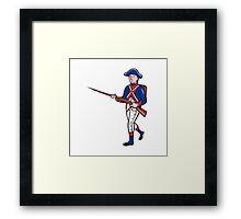 American Revolutionary Soldier Cartoon Framed Print