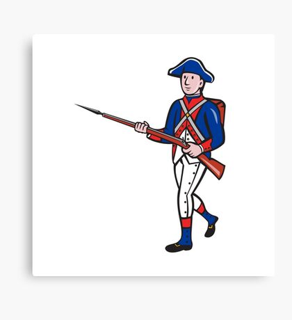 American Revolutionary Soldier Cartoon Canvas Print