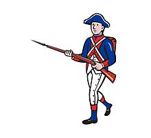 American Revolutionary Soldier Cartoon Photographic Print