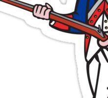 American Revolutionary Soldier Cartoon Sticker