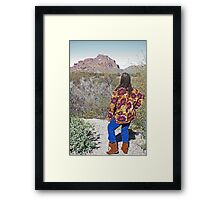 A woman viewing nature. Framed Print