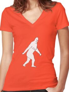 THE JERSEY DEVIL - X FILES FOX MULDER Women's Fitted V-Neck T-Shirt