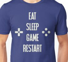 Eat Sleep Game Restart Video Gaming T Shirt  Unisex T-Shirt