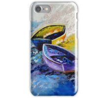 Twins Boat Purple and Yellow iPhone Case/Skin