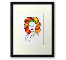 Floratonia V1 - flower beauty Framed Print