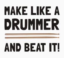 Drummer Beat It One Piece - Long Sleeve