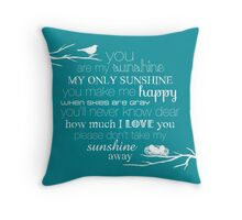 You Are My Sunshine – Nest – Square – White  Throw Pillow