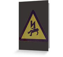 DEADLY VOLTS Greeting Card