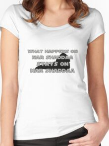 What happens on Nar Shaddaa... Women's Fitted Scoop T-Shirt
