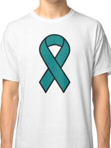 Teal Ovarian Cancer Ribbon Classic T-Shirt