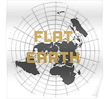 The earth is flat get over it,  Poster