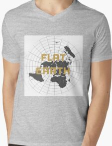 The earth is flat get over it,  Mens V-Neck T-Shirt