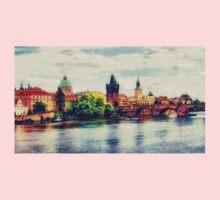 Prague bridge watercolor Baby Tee