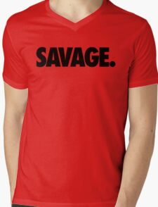 SAVAGE - (Black) Mens V-Neck T-Shirt