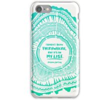 My List – Turquoise Ombré iPhone Case/Skin