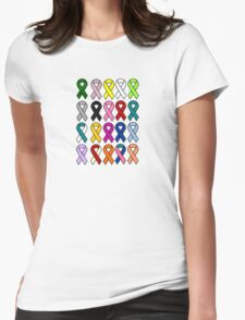 Cancer Ribbons - Cancer Awareness Womens Fitted T-Shirt
