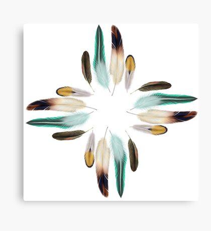 Feather Zia Sun God Canvas Print