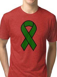 Emerald Green Liver Cancer Ribbon Tri-blend T-Shirt