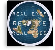 Flat earth flat is fact Canvas Print
