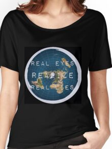 Flat earth flat is fact Women's Relaxed Fit T-Shirt