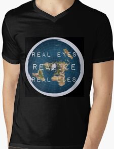Flat earth flat is fact Mens V-Neck T-Shirt