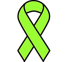 Lime Lymphoma Ribbon Photographic Print
