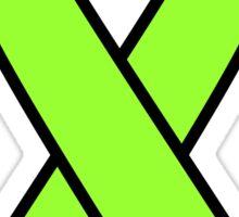 Lime Lymphoma Ribbon Sticker