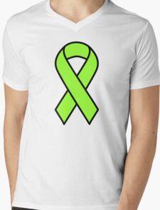 Lime Lymphoma Ribbon Mens V-Neck T-Shirt