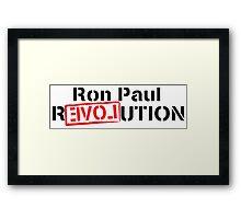 Ron Paul Revolution Love Logo Framed Print