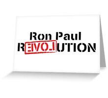 Ron Paul Revolution Love Logo Greeting Card
