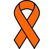 Orange Kidney Cancer and Leukemia Ribbon Photographic Print