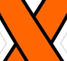 Orange Kidney Cancer and Leukemia Ribbon Sticker