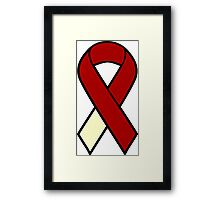 Head and Neck Cancer Ribbon Framed Print
