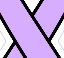Periwinkle ribbon: Stomach and Esophageal Cancer Sticker
