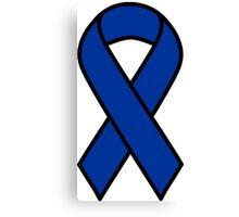 Blue Colon Cancer Ribbon Canvas Print