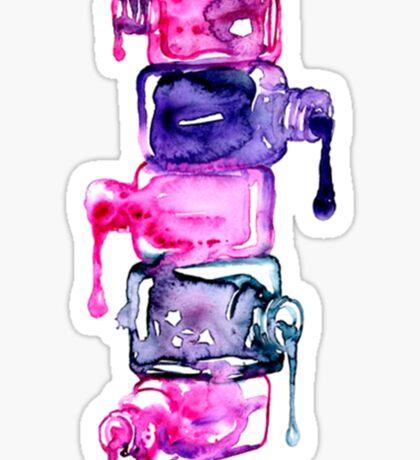 Nails polish { colours } #watercolor Sticker