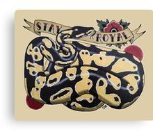 """Stay Royal Ball Python"" Canvas Print"