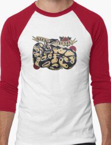 """Stay Royal Ball Python"" Men's Baseball ¾ T-Shirt"