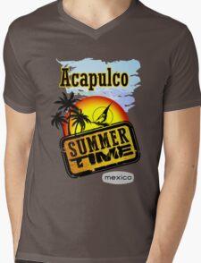 Acapulco, Summer  Mens V-Neck T-Shirt