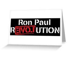 Ron Paul Revolution Love Logo White Greeting Card